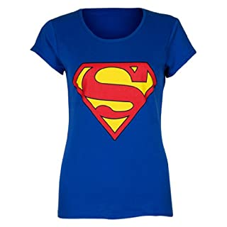 Love My Fashions Womens Ladies Superman Print T-Shirt - Royal Blue - M/L
