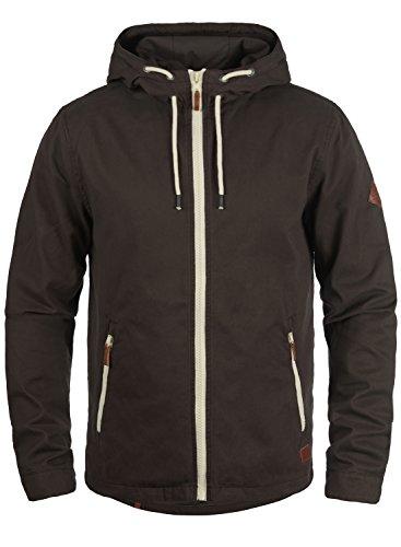 Blend Bobby Herren Übergangsjacke Herrenjacke Jacke gefüttert mit Kapuze, Größe:XL, Farbe:Coffee Brown (71507)