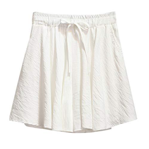 Perlen Baumwolle Shorts (XZDCDJ Shorts Damen Hose kurzen Sommer high Waist hot Hose Mode Sexy High Waist Shorts Perlen Casual locker Shorts Mit Gürtel (Wein,M))