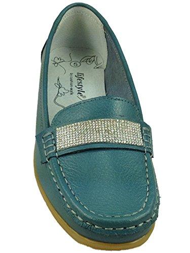 Foster Footwear , Ballet femme Dimante:Teal