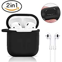 AirPods Case Protective, ikalula AirPods Apple Case Silicone Antiurto AirPods Protective Custodia Accessori skin-soft Silicone Cinghia dell anti-perso per Airpods