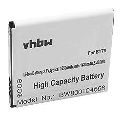 vhbw Akku 1650mAh für Smartphone Telefon Handy Alcatel One Touch OT-6010, OT-6010D, OT-992, OT-992D, OT-991, OT-991 Play, OT-991D, OT-975N wie BY78.