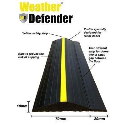 Wetter Defender Heavy Duty 2.6m Garage Door Etage Seal Streifen mit Klebstoff