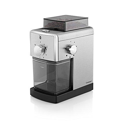 WMF STELIO Kaffeemühle Edition, Scheibenmahlwerk aus Stahl, 17-stufiger Mahlgrad, 2-10 Tassen,...