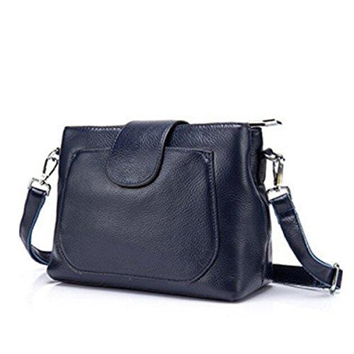 Damen Umhängetasche Brieftasche Diagonal Paket Darkblue