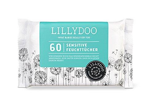 LILLYDOO Sensitive Feuchttücher - Öko & Parfümfrei - 720 Tücher (12 x 60 Stück)