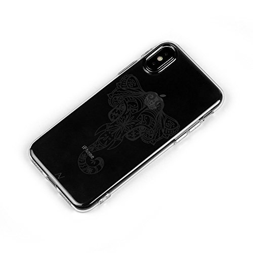 iPhone 7Plus/iPhone 8Plus Custodia, iPhone X Cover Avana® Custodia Flessibile Case Custodia protettiva trasparente Rigida Cover in Silicone Trasparente + TPU Apple Custodia Cover Motivo elefante