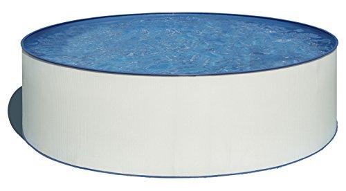Gre KITWPR302- Piscina Lanzarote Desmontable Redonda de Chapa Blanca Ø300x90 cm