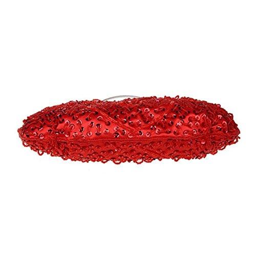 Hattie , Pochette pour femme Or doré taille unique rouge