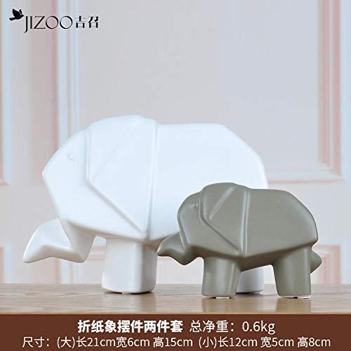 GOUDAIDAI Geschenk für den Lehrer Einfache Moderne Keramik Ornamente kreative Wohnaccessoires Wohnzimmer Weinschrank TV-Schrank Handwerk Innenkunst, Origami wie grau