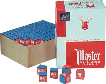 Billardkreide Master blau, 144 Stück Box