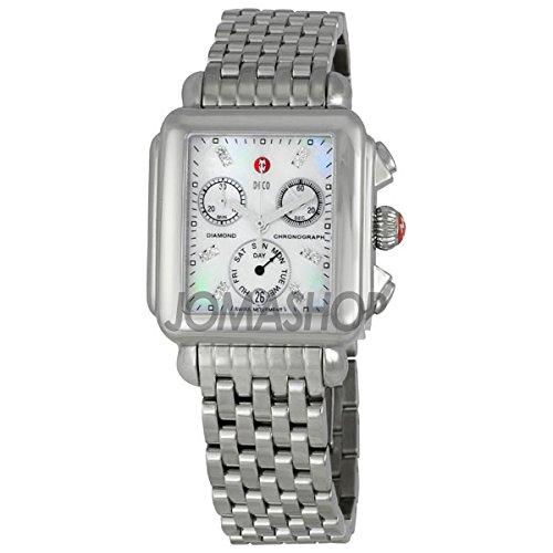 Michele Michele Damas Deco Madre de Perla Dial Cronógrafo Reloj MWW06P000014