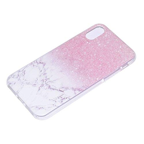 inShang iPhone X 5.8inch custodia cover del cellulare, Anti Slip, ultra sottile e leggero, custodia morbido realizzata in materiale del TPU, frosted shell , conveniente cell phone case per iPhone X 5. marble