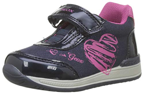 Geox B RISHON Girl B, Zapatillas para Bebés, Azul Navy/Fuchsia C4268, 20 EU