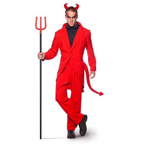 Anzug Suit Roter Teufel Halloween Faschin Karneval (XL/XXL) (Roten Anzug Teufel Kostüm)