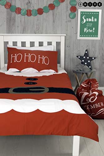 Helper Elfie Weihnachts-Bettwäsche, Bettbezug und Passender Kissenbezug, wendbar, Festliches Weihnachtsmotiv, Für Kinder ()