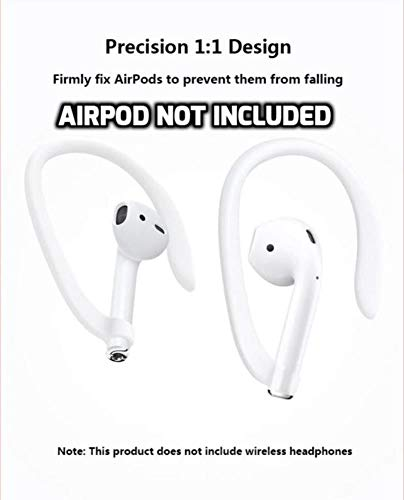 DEALPICK Protective Earhooks Holder Secure Fit Hooks for Airpods Apple Wireless Earphone Accessories White Image 8