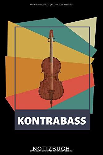 KONTRABASS NOTIZBUCH: A5 WOCHENPLANER Geschenkideen für Bassisten | Kontrabass | Jazz | Musik | Buch | Geschenk für Erwachsene Kinder Anfänger | Bücher | Bass