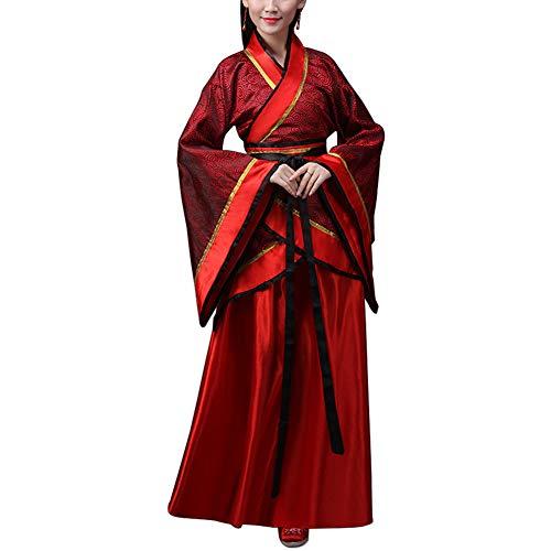uirend Kleidung Kostüm Erwachsene Damen - Alte Chinesische Brautkostüm Tang Klage Nationale Traditionelle Hanfu Cosplay Performances Tanzen Kleidung