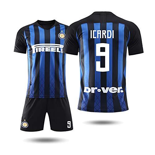 COOLBOY ICARDI 9 Trikot Set mit Hose, Inter Mailand 2018/2019 Trikot Personalisierte Fußball Trikots Herren Kinder Jugend mit Namen und Nummer,L