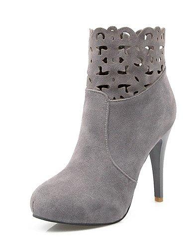 ShangYi Mode Frauen Schuhe Damen Stiefel Frühjahr / Herbst / Winter Fashion Stiefel Kunstleder/ and Stilettabsatz Plaid Schwarz/Rot/Grau andere Schwarz