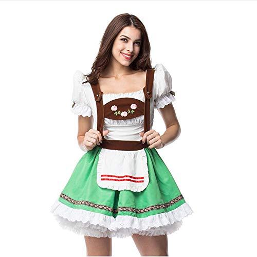 Kostüm Französisch Maskerade - LaLaLa Frauen Bier Mädchen Oktoberfest Halloween Kostüme, Cospaly Beer Maid Phantasie Französisch Maid Kleider, Restaurant Bar Kellnerin Kostüm,L