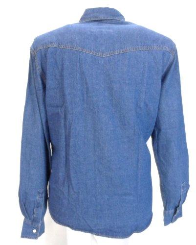 Chemise Jean Bleu Grande Taille Homme WESTERN de DUKE Délavé