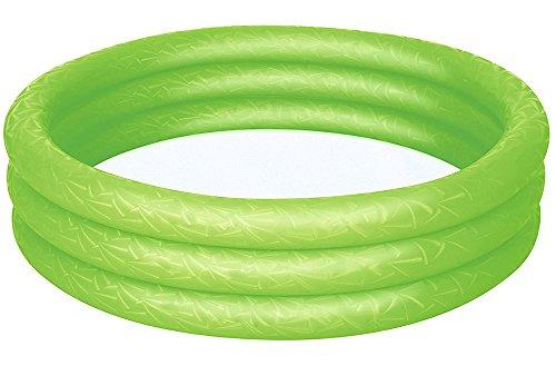 PLAY STORE Cucuba BESTWAY 51024 PISCINA REDONDA HINCHABLE PARA NIÑOS 2+ CON 3 ANILLOS DIÁMETRO Ø102CM – IDEA DE REGALO (Color Verde)