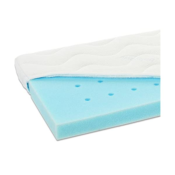 Babybay Medicott Mattress for Midi and Mini, White babybay Extra aerial effectively prevents the penetration of moisture Effectively and sustainably prevents the formation of mold and dust mites Washable at 60 degree 1
