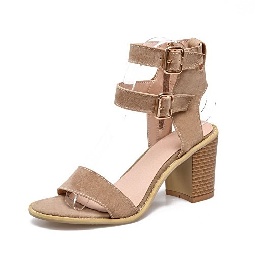 Adee Mesdames ankle-cuff dance-character givré Sandales Beige - beige