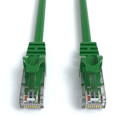 2m CAT.6 Netzwerkkabel (RJ45) Patchkabel Ethernet Lan in grün  1Gbit/s   250MHz   kompatibel zu CAT.5 / CAT.5e / CAT.6   von JAMEGA