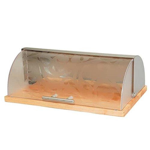 Brotkasten aus Holz und Stahl mit Fenster. mr1670s