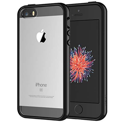 JETech Coque pour iPhone SE, iPhone 5s et iPhone 5, Shock-Absorption et Anti-Rayures, Noir