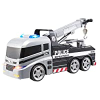 Teamsterz Large Light & Sound Police Tow Truck | Kids Emergency Toy Vehicle Car/Van Tow Lorry Great For Children Aged 3+