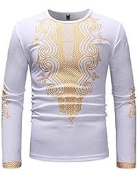 330273009fac FRAUIT Herren Luxus afrikanischen Print Langarm Pullover Männer Schöner  Druck Hemd Shirt Top Bluse