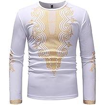 ¡Gran promoción!Camisas para Hombre Rovinci Primavera Guapo Otoño Lujo  Folk-Custom Impreso 0d449dfd6ee32