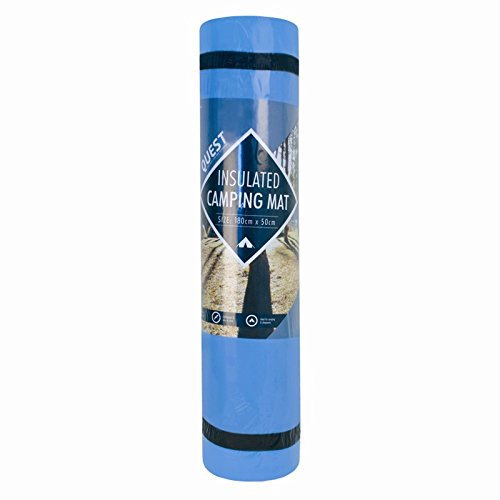 INSULATED CAMPING MAT/ROLL /YOGA MAT Blue by Quest