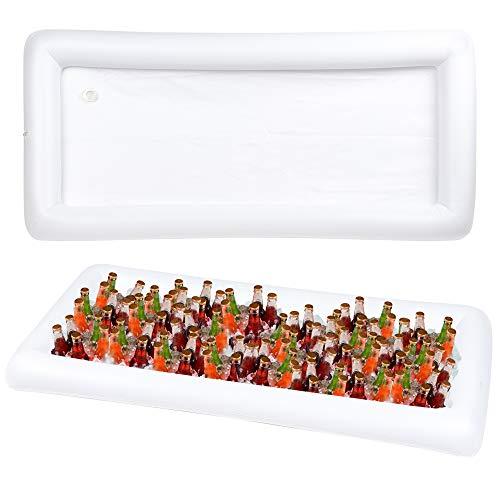 Bramble! set da 2 gonfiabile servire/vassoio di cibo vassoio di insalata di ghiaccio bar, bbq picnic pool - set da 2 bar galleggiante - include tappo di scarico per svuotarlo facilmente