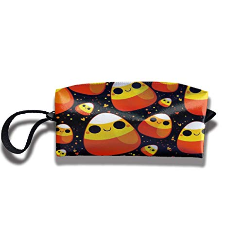 Cute Halloween Print Fashion Cosmetic Pouch Bag Trendy Jewelry Pouch Travel Cosmetic Bag Pouch with Zipper (Aladdin Moderne Halloween)