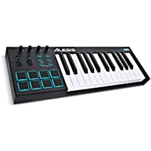 Alesis V25 - Teclado controlador USB-MIDI de 69 teclas con 8 pads, 4 potenciómetros asignables y botones, software Incluido