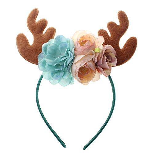 LUOEM Rentier Geweih Stirnband Weihnachten Kostüm Stirnband Neuheit Party Haarband Headware für Weihnachten Ostern Kostüm Kleid Party Supplies (Ostern Party Supplies)