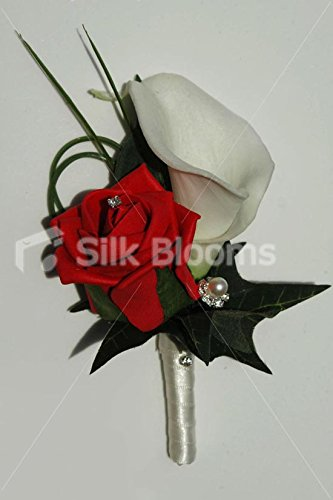 white-calla-lily-red-rose-grooms-artificial-wedding-buttonhole