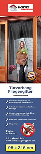 1x CBK-MS Tür Fliegenvorhang 95 x 215 cm Fliegengitter Insektenschutz (Schiebetüren Terrasse Vorhänge)