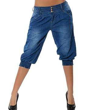 Pantalones Cortos para Mujer Moda Verano Casual Pantalon Shorts Jeans Tallas Grandes(Azul Oscuro, Azul Claro,...