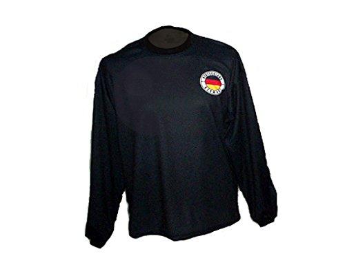 Spielfussballshop Deutschland Torwart Trikot gepolstert mit Wunschname Nummer Kinder Größe 128