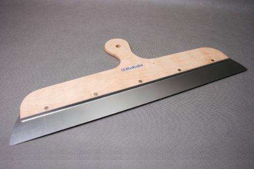 Fassadenspachtel - Flächenrakel - Breitspachtel mit Holzgriff - Edelstahl 600x48mm - Modell H2