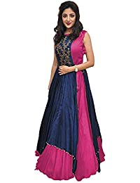 21b44351161 MEERA CRATION Meera Creation Women s Banglory Gown With Jacket Gown for Party  Wear Dress