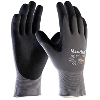 ATG 42-874/09 Maxiflex Ultimate Work Gloves Thin Nitrile Foam Coated 9 - Large, Grey