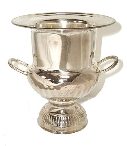 linoows Sektkühler im Biedermeier Stil, Champagnerkühler, Sektkübel silbern
