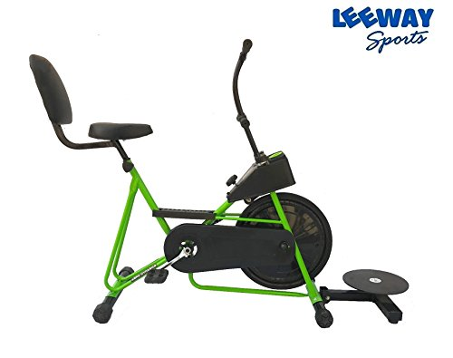 Exercise Cycle with Back Support with Twister by Leeway| Fix Handle Gym bike For Home Use| Deluxe Design of Fitness| Lifeline for Cardio Work Out| Weight Loss Cross fit Equipment| Stamina 201 -GREEN  available at amazon for Rs.4999